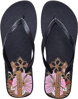 SEASHELL Women Fashion Thongs Sandals Flip Flops Floral Beach Slipper Shoes
