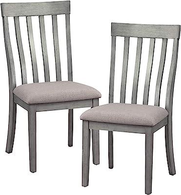 Amazon.com: Cluff - Juego de 2 sillas de comedor o brazo de ...