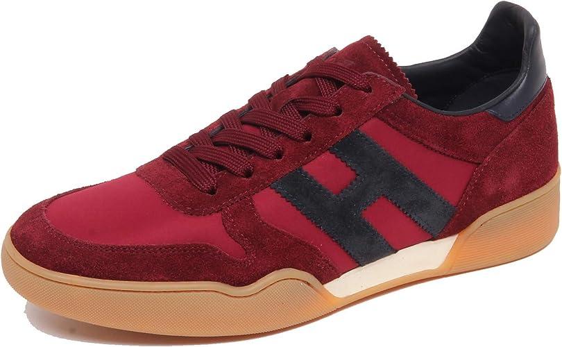 Hogan F6814 Sneaker Uomo Bordeaux/Blu H357 Scarpe Suede/Tissue ...