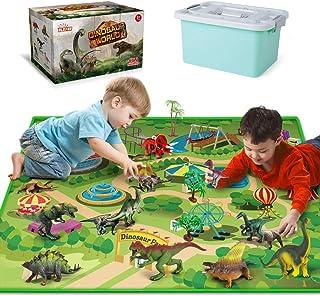 اسباب بازی های دایناسور - 12 قطعه فیگور دایناسور ، تشک بازی فعالیت