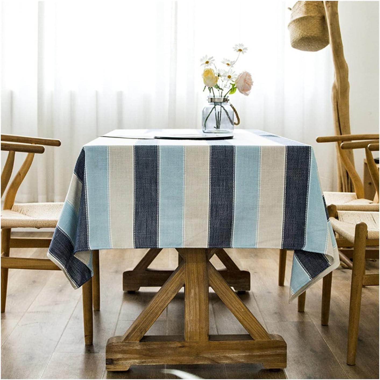 HZYAN Europe Stripe Table Coffee Rectangular Cloth Now on sale Cotton Detroit Mall