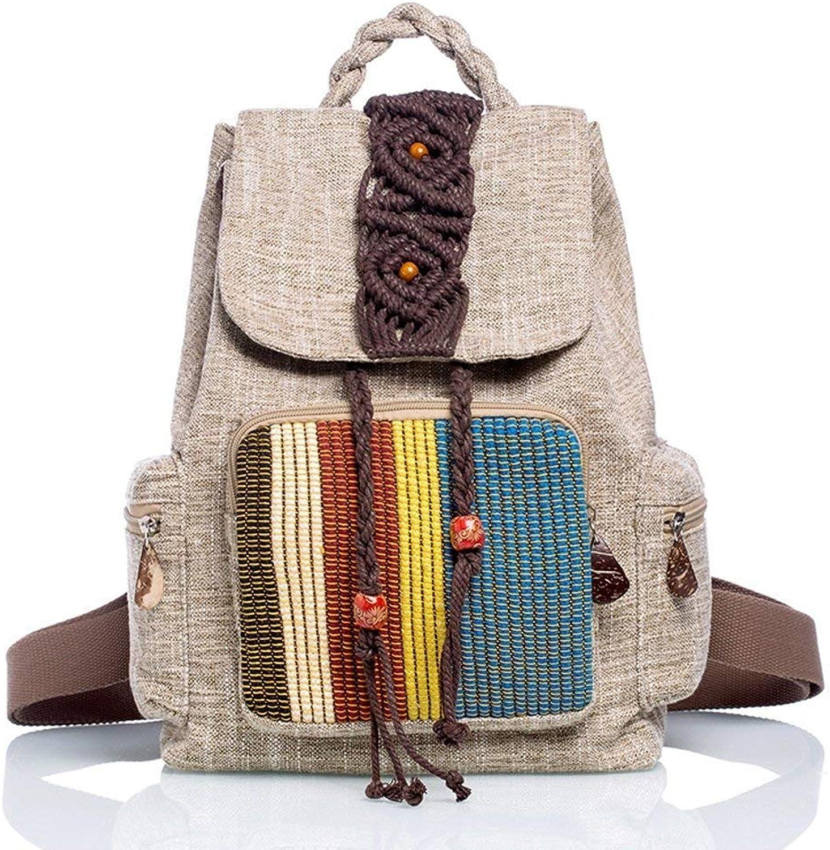 191e6a9061a Willsego Leisure Retro Ethnic Backpack Female Cotton Linen ...