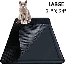 Highland Farms Select Cat Litter Mat - Cat Litter Box Trapper with EZ Clean Large Holes - Waterproof Double Layer Cat Litter Mat Catcher, Large Size 31