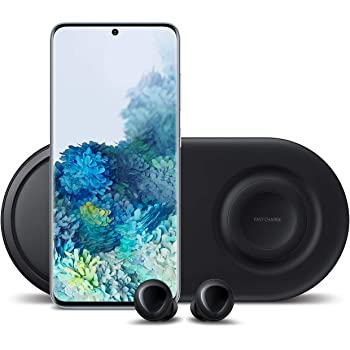 Samsung Galaxy S20 5G Factory Unlocked 128GB | New Android Cell Phone Bundle | US Version | Cloud Blue | Includes Samsung Galaxy Buds & Samsung Duo Wireless Charging Station