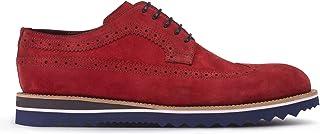 Deery Hakiki Süet Kırmızı Günlük Erkek Ayakkabı - 01293MKRME02