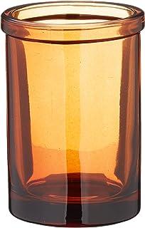 FLAMEER Porta Spazzolino da Bagno//Bicchiere Antico in Ottone Massiccio con Tazza in Ceramica