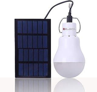 KK.BOL Lámpara Solar Portátil Bombilla LED Panel Solar Rec