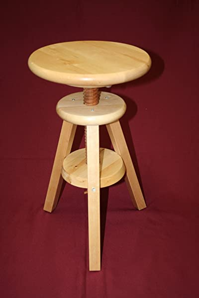 EHemco Wooden Adjustable Stool In Natural 18 To 24