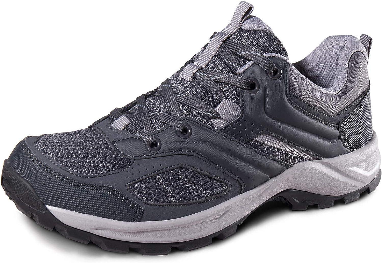Camel Hiking shoes Mens Low Top Mesh Sneakers Lightweight Athletic Trekking shoes Slip-On Walking Footwear Outdoor Sports