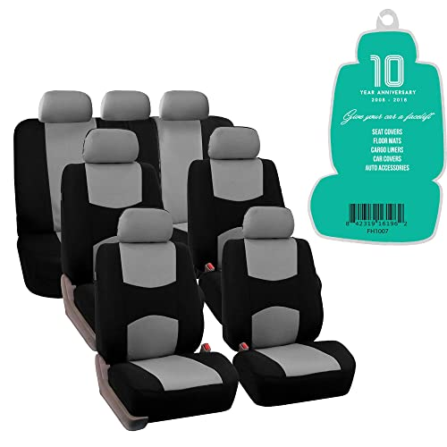 FORD B-MAX 12-ON Black White Pipe Front Pair Car Seat Covers Set