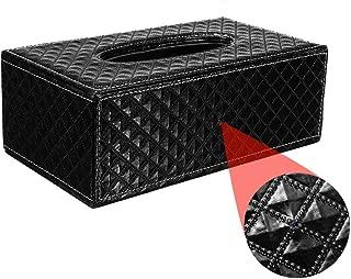 Black Functional Tissue Box Holder with 4K UHD WiFi Hidden Spy Nanny Camera Built-in 32GB Memory Card