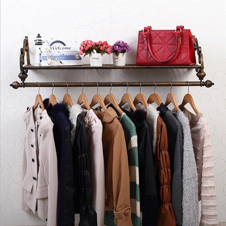 Coat Rack Coat Rack Multifunctiona Solid Wood Shelf Wall Hanging Combination Hanger Living Room Bedroom Corridor Hanger (color   Bronze, Size   100  28cm)