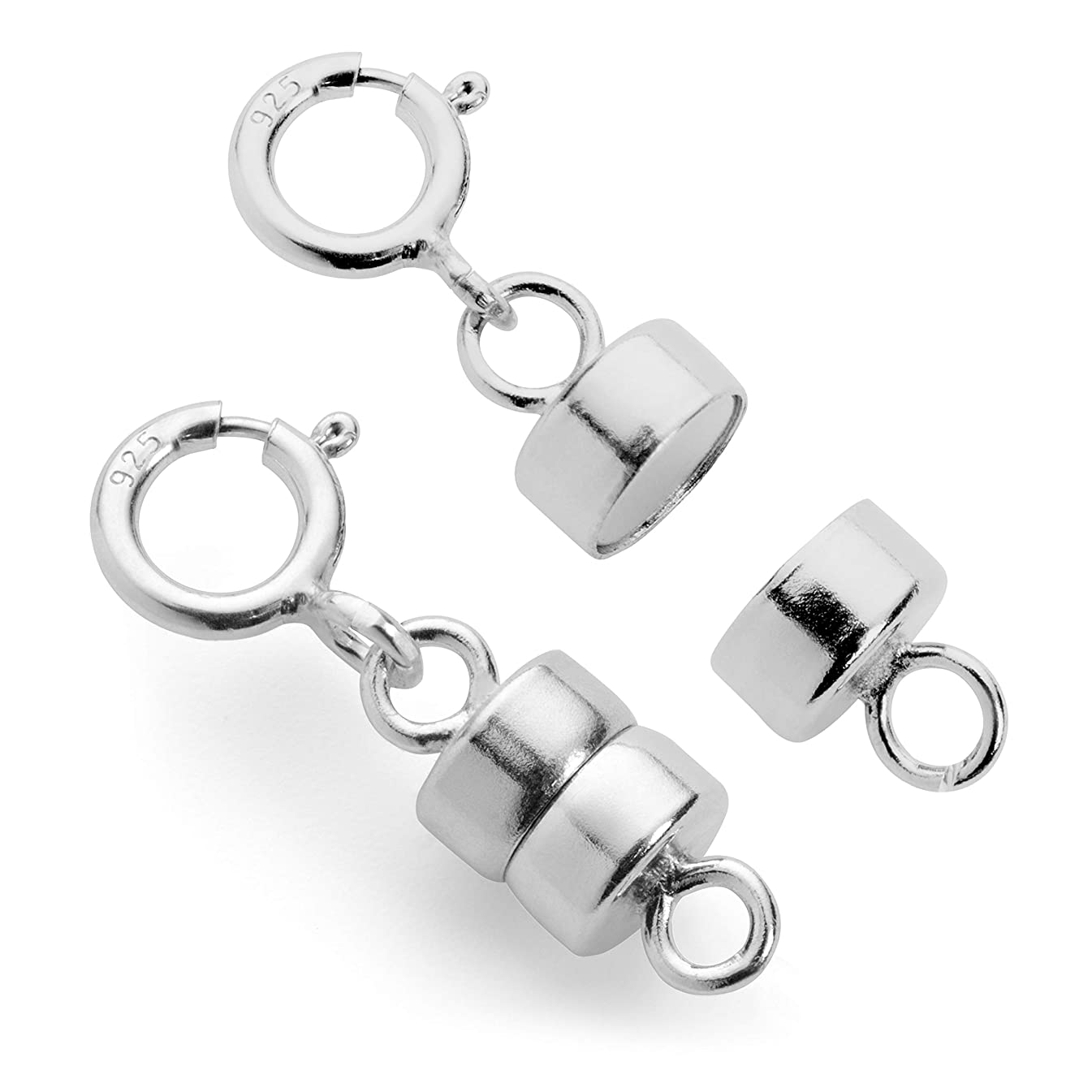 Magnetic Clasp Converter for Necklaces or Bracelets - 14K Yellow Gold, Yellow Gold Filled or Sterling Silver