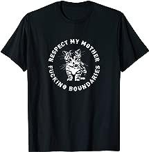 Respect My Mother Fucking Boundaries Punk Feminist Kitten T-Shirt