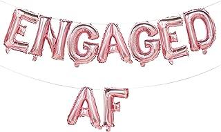 Engaged AF Balloons Rose Gold | Engaged AF Foil Letter Balloons Banner | Engagement Party Decorations Rose Gold | Engagement Party Supplies | 16inch