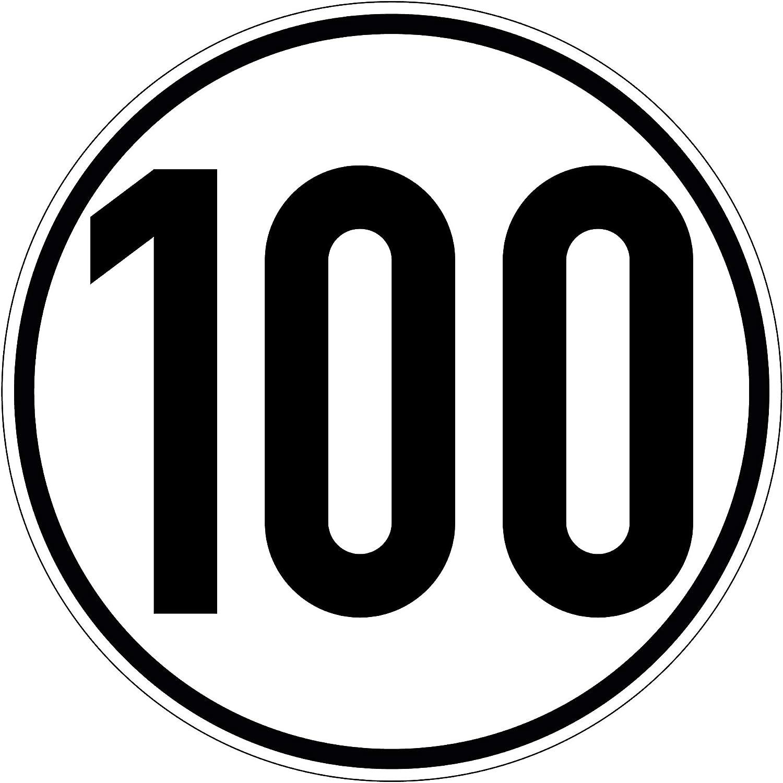 Geschwindigkeitsaufkleber 100 Km H Hinweis Nach 58 Stvzo Selbstklebend Folie Für Fahrzeuge Anhänger 200 Mm Plottfactory Baumarkt