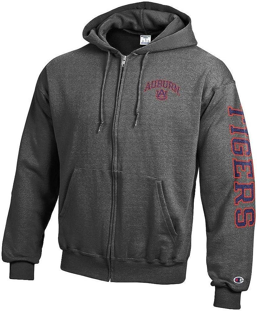 Elite Fan Shop NCAA Mens Zip Hoodie Sweatshirt Arm Dark Heather