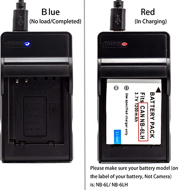 SD1200 is SD1300 is NB-6L LCD USB Charger for Canon PowerShot ...