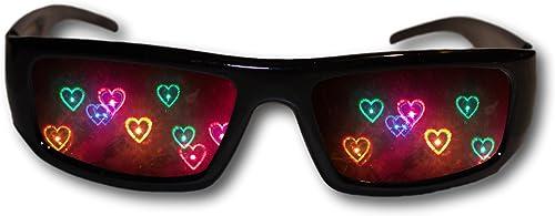 Heart Diffraction Glasses - See Hearts - Rave Glasses, fireworks glasses, holiday light glasses