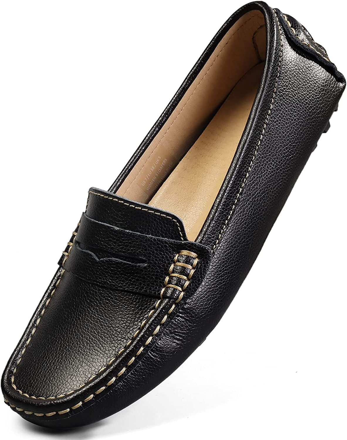 A surprise price is realized Artisure Women's Classic Genuine Over item handling ☆ Leather Driving Penny M Loafers