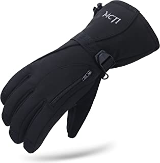 Waterproof Mens Ski Gloves Winter Warm 3M Thinsulate Snowboard Snowmobile Cold Weather Gloves