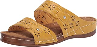 Easy Street Women Slide Sandal, Marigold, 8 us x_wide