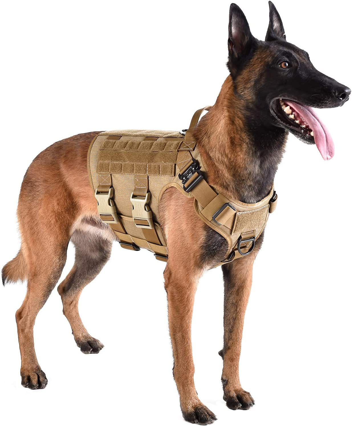 ICEFANG Tactical Dog Harness Hook and Wor Import Patch Mail order Loop Panels for