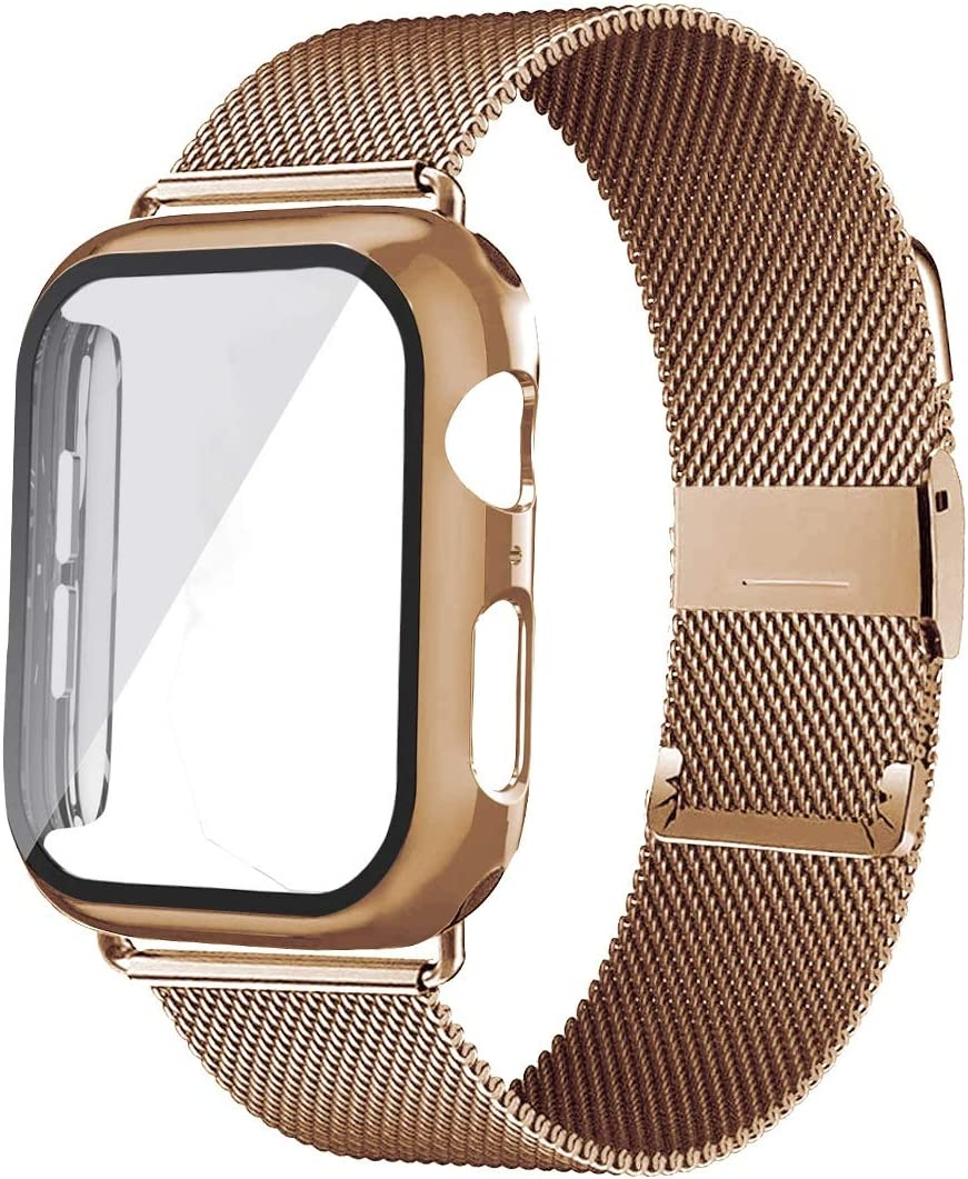 XYSCFF Glass+Case+Strap for Watch Band 42mm 40mm Acces 44mm At the price of Our shop OFFers the best service surprise 38mm