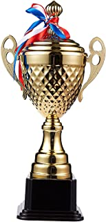 Juvale Large Trophy Cup - Gold Trophy for Sport Tournaments, Competitions, Gold, 15.2 x 7.5 x 3.7 Inches, 15.2 Inches in H...