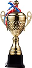 Juvale Large Trophy Cup - Gold Trophy for Sport Tournaments, Competitions, Gold, 15.2 x 7.5 x 3.7 Inches, 15.2 Inches in Height