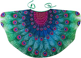 Peacock Wings for Kids,Children Butterfly Wing Cape Girls Feathered Peacock Costumes Party Supplies Halloween Props