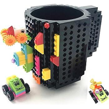 Idee Regalo Per Natale Ragazza.Huisheng Build On Brick Mug Tazza Di Caffe Regali Originale Per Uomo Lui Donna Mamma Ragazza Amici Bambini Idea Regalo Per Natale Pasqua Festa Del Papa Compleanno Compatibile Con Lego Nero 2 Amazon It Casa
