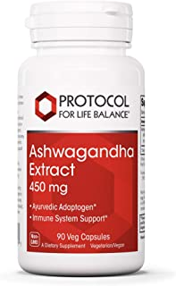 Protocol For Life Balance - Ashwagandha Extract 450mg - Helps Immune System Support, May Reduce Stress, Anxiety and Cortis...