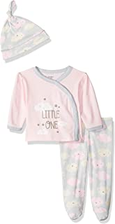 Gerber Baby-Girls 3-Piece Shirt, Footed Pant and Cap Set Infant-and-Toddler-Pants-Clothing-Sets
