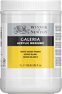 Winsor & Newton Galeria Acrylic White Gesso Primer, 1-Liter(Package may vary)