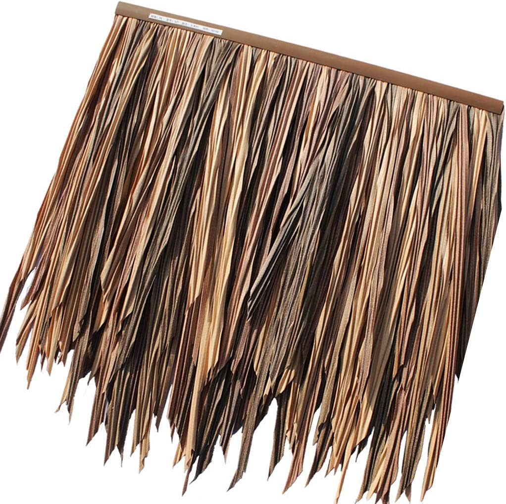 Limited time for free shipping Thatch Tile Artificial Stra Fake Popular brand in the world Plastic