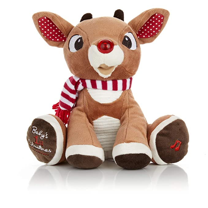Rudolph The Red-Nosed Reindeer Baby's First Christmas Plush with Music and Lights