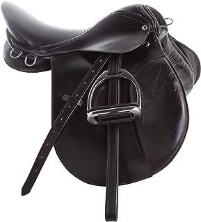 "Treeless Synthetic Saddles Blue//Black 16,17 /& 18/"" Matching Girth"
