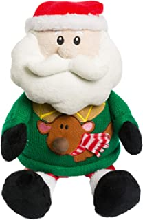 HollyHOME Santa Stuffed Animal Christmas Plush Toy Home Decorations Festival Birthday Gift for Kids 15 inches in Green Sweater