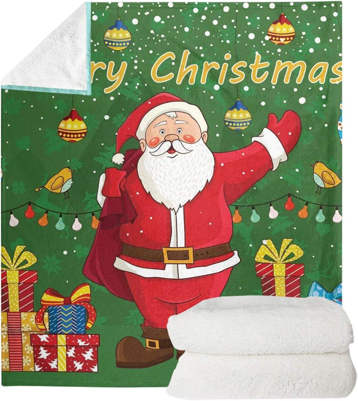 Dremagia Santa スーパーSALE セール期間限定 Print Throw Blanket Fluffy ショッピング for Plush Cozy