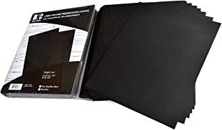 BNC Letter Size Linen Texture Presentation Paper Covers, Black Color with Round Corner, Pack of 100