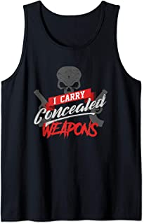 Funny Concealed Weapon Gun Permit Tank Top