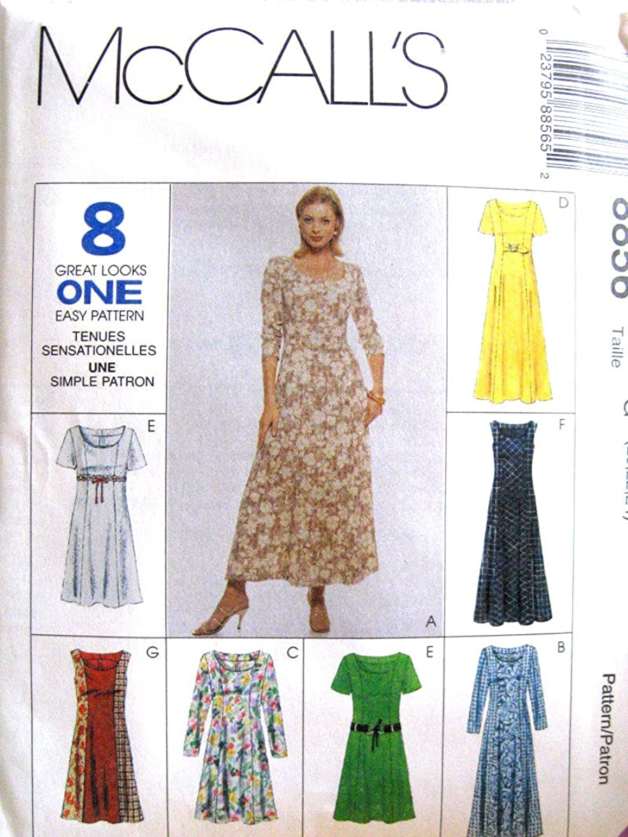 McCall's Sewing Pattern 8856 Misses Dresses 8 Styles, D (12-14-16)