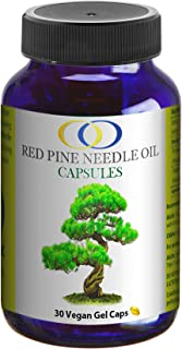 Optimally Organic Korean Red Pine Needle Oil Capsules - Powerful Immune System Booster - Anti Aging Properties - Wild Craf...