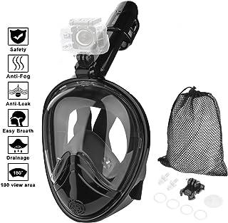 HOVNEE Máscara de Buceo,Máscara Snorkel Máscara para Buceo 180 ° tecnología panoránica, la Máscara de Snorkel de cámara Instalable para los Adultos,Adecuado para Interiores y Exteriores