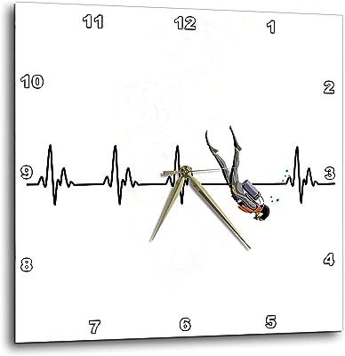 3dRose Macdonald Creative Studios – Scuba - A EKG Heartbeat line with Scuba Diver. -