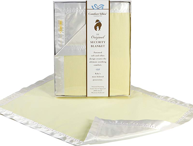 Yellow COMFORT SILKIE Security Blanket The Original The Best Award Winning