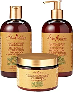 SheaMoisture Manuka Honey & Mafura Oil Intensive Hydration Combination Set – Includes 13 oz. Shampoo, 13 oz. Conditioner & 12 oz. Hair Masque