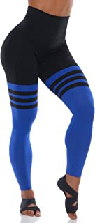 Bombshell Sportswear High Waist Thigh-High Leggings - Black/Royal