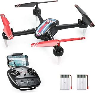 SNAPTAIN ドローン カメラ付き バッテリー2個付き 合計最大45分飛行時間 720P HD 120°広角カメラ FPVリアルタイム伝送 自動ホバリング 3段階速度調整 ヘッドレスモード 360°フリップ 体感モード 国内認証済みSnaptain SP660